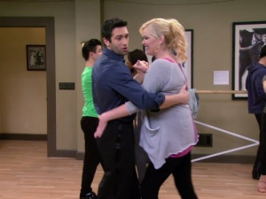 Melissa Peterman and Dmitry Chaplin in Baby Daddy (2012)