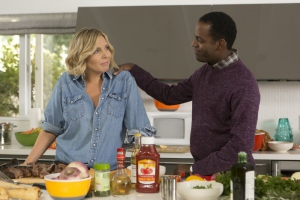 June Diane Raphael and Baron Vaughn in Grace and Frankie (2015)