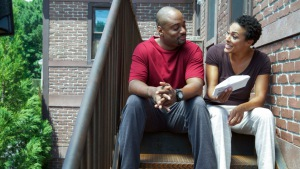 Charles Malik Whitfield and April Parker-Jones in If Loving You Is Wrong (2014)