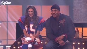 LL Cool J and Nina Dobrev at Lip Sync Battle (2015)