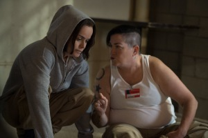 Lea DeLaria and Taryn Manning in Orange Is the New Black (2013)