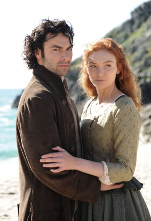 Eleanor Tomlinson and Aidan Turner in Poldark (2015)