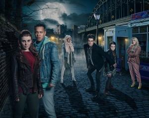 Sydney Wade, Jack Brett Anderson, Louis Payne, Gabrielle Green, Leona Vaughan, and Rukku Nahar in Wolfblood (2012)