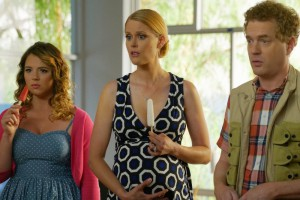 Todd Robert Anderson, Janet Varney, and Kether Donohue in You're the Worst (2014)