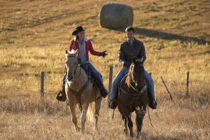 Graham Wardle and Amber Marshall in Heartland (2007)