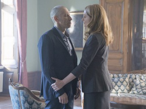 Miranda Otto and Mark Ivanir in Homeland (2011)