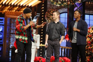 LL Cool J, Joseph Gordon-Levitt, and Anthony Mackie in Lip Sync Battle (2015)