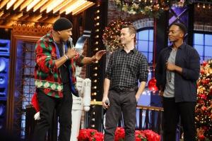 LL Cool J, Joseph Gordon-Levitt, and Anthony Mackie in Lip Sync Battle (2015)
