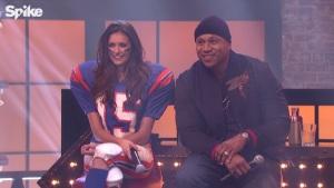 LL Cool J and Nina Dobrev at Lip Sync Battle (2015)
