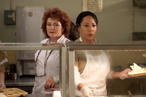Kate Mulgrew and Selenis Leyva in Orange Is the New Black (2013)