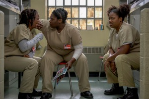 Uzo Aduba, Adrienne C. Moore, and Danielle Brooks in Orange Is the New Black (2013)