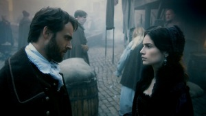 Stuart Townsend and Janet Montgomery in Salem (2014)