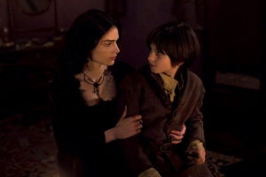 Janet Montgomery and Oliver Bell in Salem (2014)
