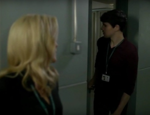 Gillian Anderson and Colin Morgan in The Fall (2013)