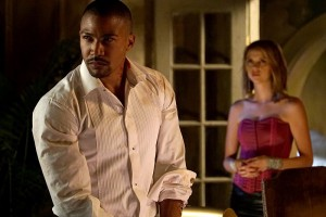 Charles Michael Davis and Riley Voelkel in The Originals (2013)
