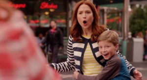 Ellie Kemper and Cooper Chapman in Unbreakable Kimmy Schmidt (2015)