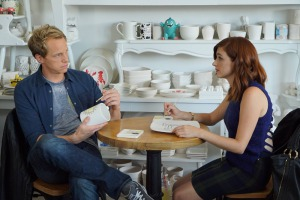 Chris Geere and Aya Cash in You're the Worst (2014)